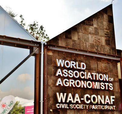 Nadia Mikushova.EXPO Milano 2015.World association of agronomists panel.