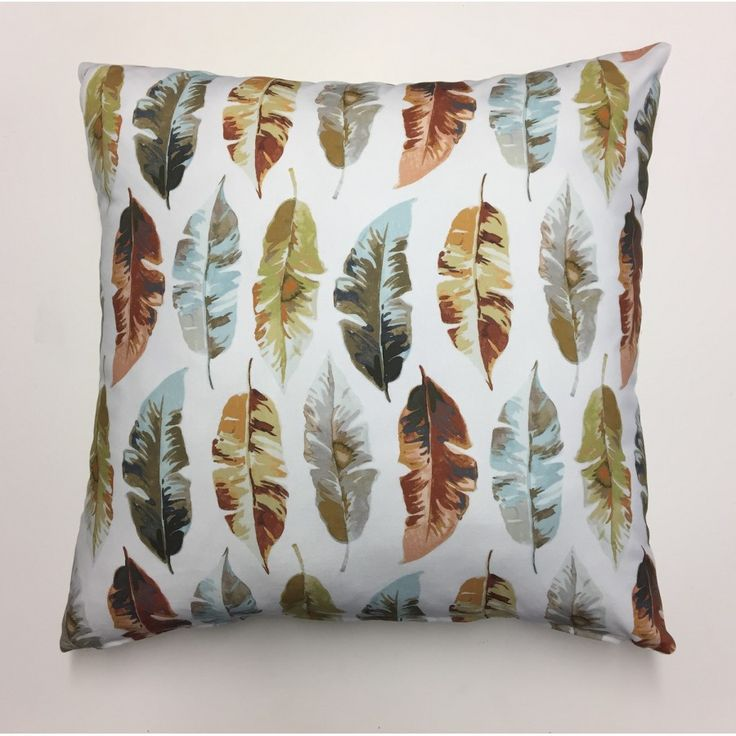 Mia Autumn Scatter Cushion 60cm X 60cm Floral and leaf prints with plain back. Made from Hertex Fabric 100% cotton front and back.