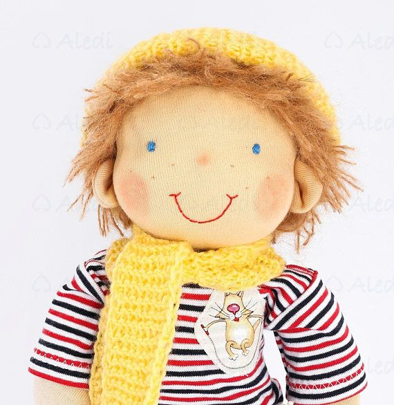 16 Waldorf boy doll READY TO SHIP Rag doll Gift for