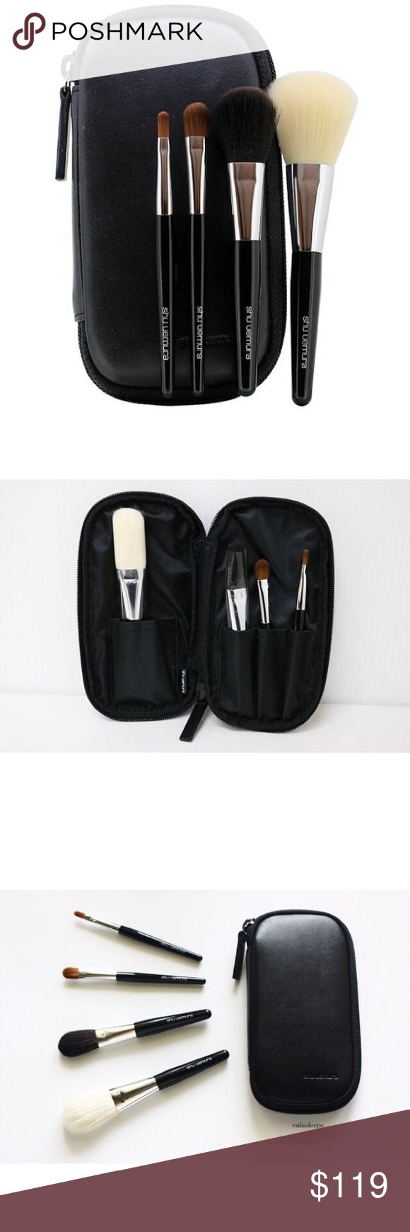 Shu Uemura - Travel Portable Brush Set with Pouch Shu Uemura - Travel Portable Brush Set with Pouch. All brushes never used or washed. ❗️Not from Sephora. Listed Sephora for exposure❗️ Sephora Makeup Brushes & Tools