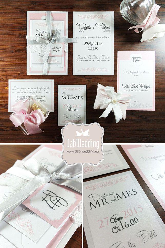 Partecipazione nozze country modello Kate by ®Dab Wedding - www.dab-wedding.eu #Majestic #Favini