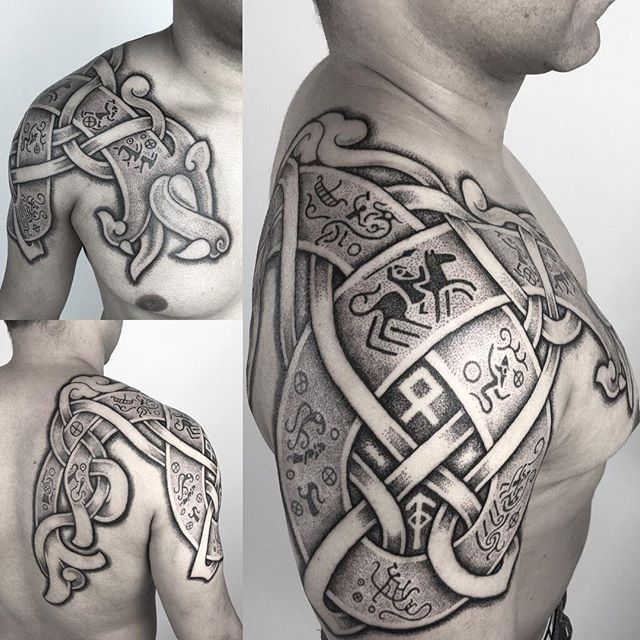 Midgard Wyrm with tales of the Nordic Gods. #viking #vikingtattoo #nordic…                                                                                                                                                     Mehr
