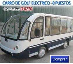 Carros de Golf Electricos 8 puestos Marca Eagle - Carros Utilitarios Colombia ref D-0270