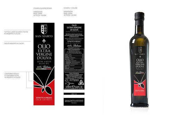 Design grafico etichetta per bottiglia olio fiorentina. www.damianomisciali.it