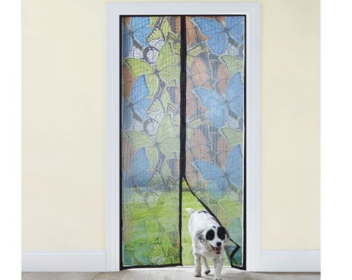 Magnetic Mesh Door £15 Pesky bugs getting into your home this summer when you leave the door open to let the breeze in? This mesh door might just solve that. Magnets separate to open the screen then shut to automatically keep the flies out. Fits single doors and sliding doors. Easy fit - no tools required. Kleeneze KLife