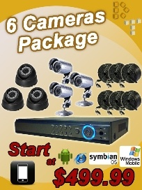 6CH CHANNEL Home Video Surveillance CCTV DVR Security System + 6 Outdoor Cameras - US $449.99
