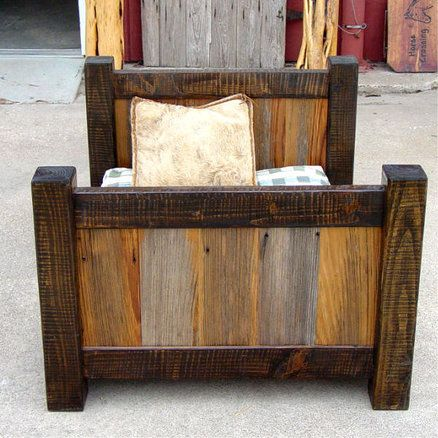 Rustic Barnwood Dog/Toddler Bed I want one of these for my toddler boy's room. So unique!