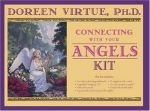 Doreen Virtue's angel kit that teaches you step by step how to connect with your angels. Includes; 12 angel oracle cards, instructional guidebook, a journal to record your angel messages, natural incense sticks, a white candle, dead sea bath salts and a beautiful pink rose quart love heart crystal! A beautiful, high vibrational angel set! Highly recommended as a gift to yourself or someone special! Only £19.99    Now at the Angelic Creations Shop: http://www.angeliccreationsshop.net
