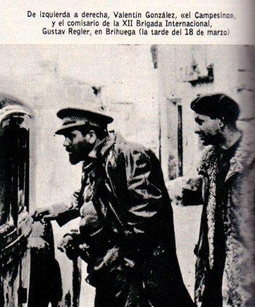"""Spain - 1937. - GC - Valentín González """"El Campesino"""" y el comisario político Gustav Regler"""