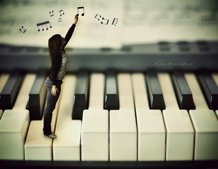 When music is your life...elle va jusqu'au bout des doigts...