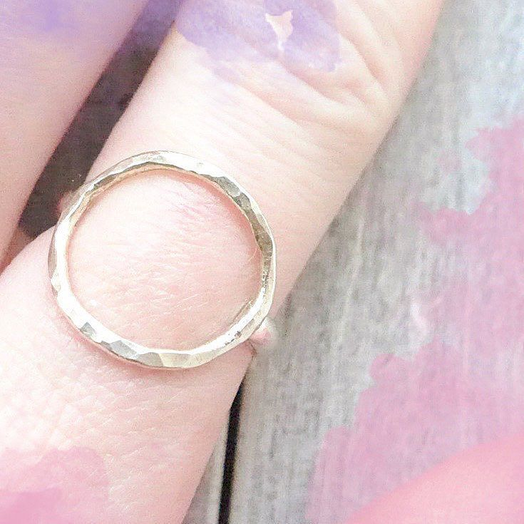 The Meridian Open Circle Ring is a symbolic symbol that can be interpreted however you want whatever it means to you.  For me it represents an infinite energy that lives on forever. Many things are the shape of a circle our irises the sun the moon the earth karma etc. What does the circle represent to you? // This ring is available in the shop choose your own size!