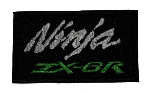 2' x 3.5' Kawasaki Ninja ZX-6R Racing Team Motorcycle Biker DIY Applique Embroidered Sew Iron on Patch * Read more at the image link.