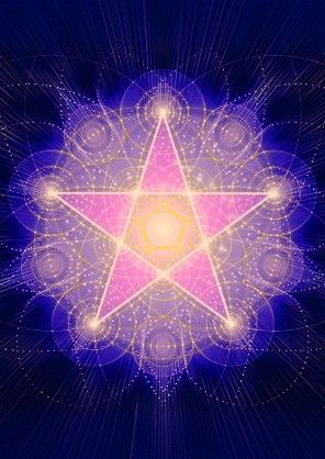 Léčivý energetický obrázek - Pentagram