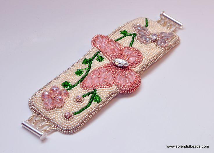 Rosaline Butterfly Bracelet #fashion #jewelry #embroidery #handmade #Swarovski