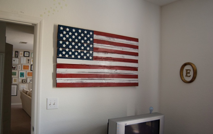 Wonderful DIY American Flag Wall Decor  Lost And Lovestruck