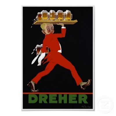 Dhener Beer ~ Vintage Hungarian  Bar Advertisement Poster Collected by: http://www.pinterest.com/bookpublicist/ #Magyar #Hungarian #plakat #poszter #alcohol #marketing #vintage
