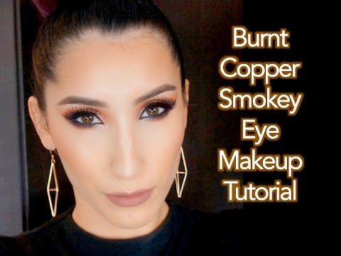 Burnt Copper Smokey Eye Makeup Tutorial