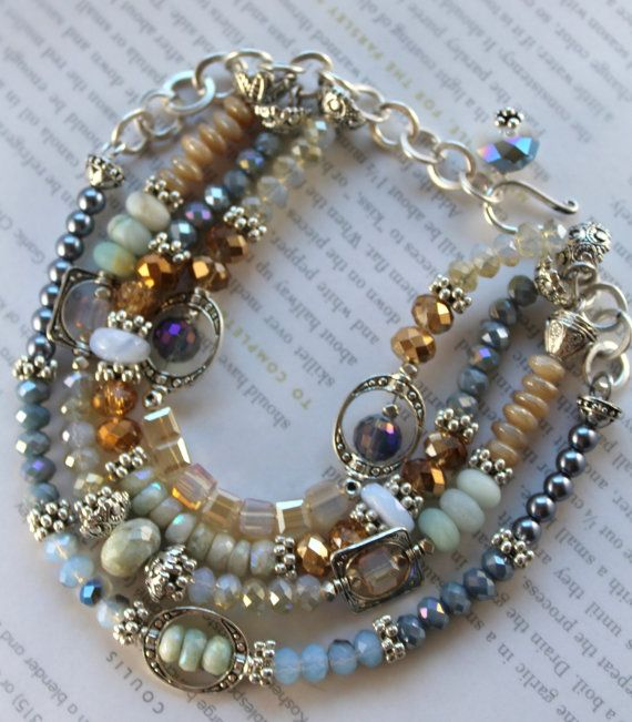 ON SALE bracelet aquamarine bracelet opal bracelet by soulfuledges