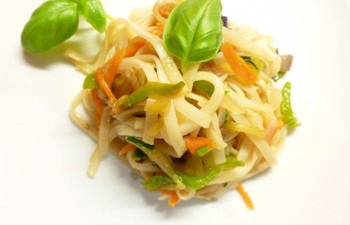 Лапша нудлс с овощами http://mirpovara.ru/recept/3004-lapsha-nudls-s-ovoshchami.html  Лапша нудлс с овощами - замечательное блюдо китайской кухни, радующее своим пикантным видом, волшебн...  Ингредиенты:  • Лапша - 500г. • Кабачок - 1шт. • Лук репчатый - 1шт. • Баклажан - 1/2шт. • Морковь - 1шт. • Перец болгарский  - 1/2шт. • Соевый соус - 2ст. л. • Устричный соус - 1ст. л. • Соль - по вкусу • Перец черный молотый - по вкусу • Масло оливковое - для жарки  Смотреть пошаговый рецепт с фото, на…