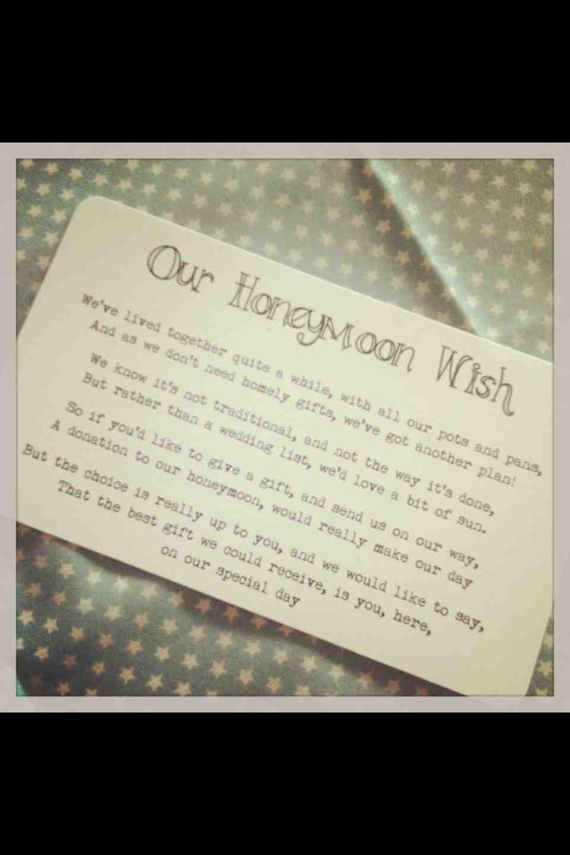 Wedding Gift Wording For Honeymoon: 7 Best Gift Poem Ideas Images On Pinterest