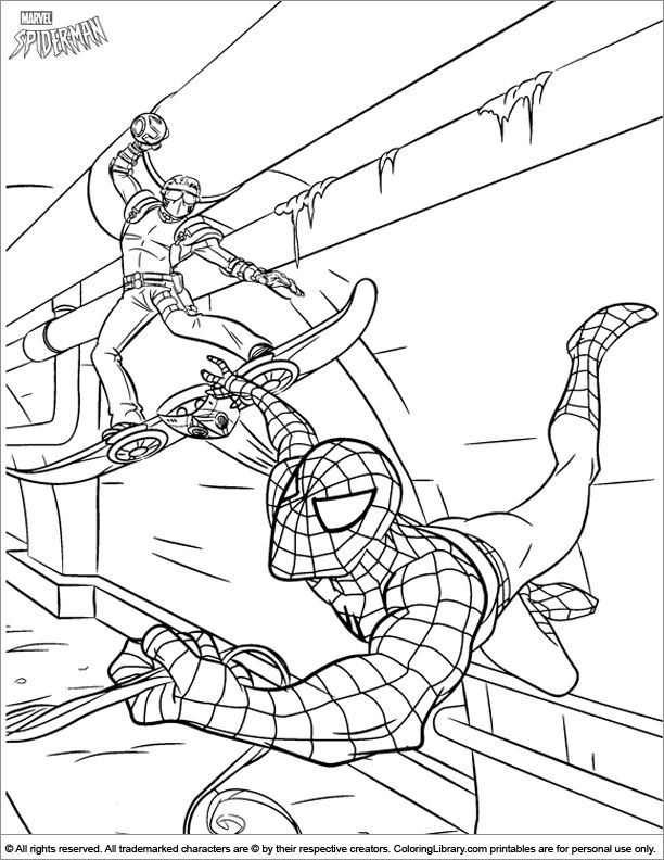 Spider Man coloring page | Spiderman coloring, Coloring ...