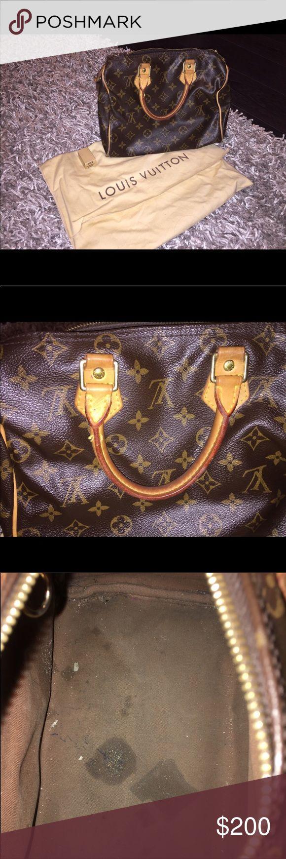 SM Louis Vuitton authentic speedy bag w/dust bag Small Louis Vuitton speedy bag with dust bag Bags Totes