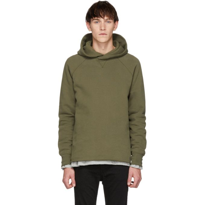 98b83c89f6 LEVI S LEVIS MADE AND CRAFTED GREEN UNHEMMED HOODIE.  levis  cloth ...