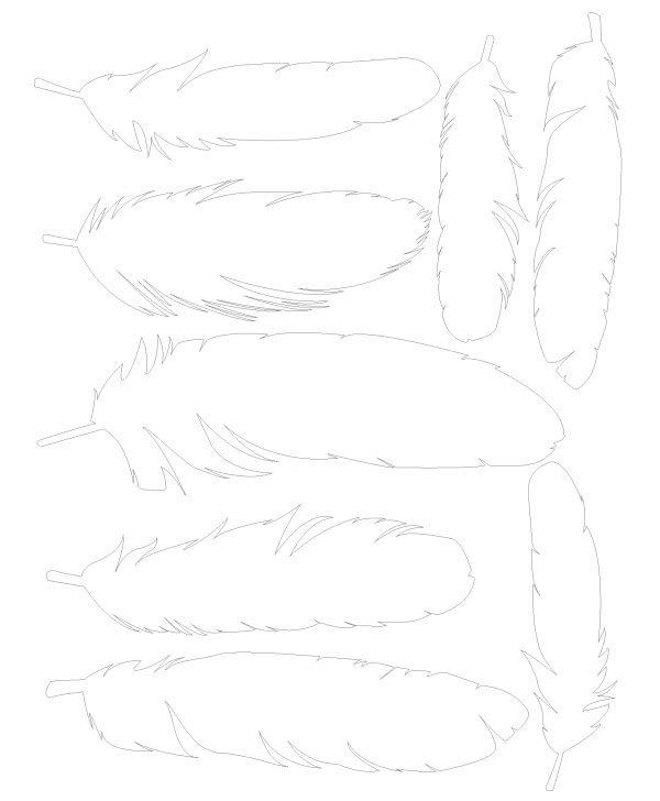 imprimer des plumes en papier