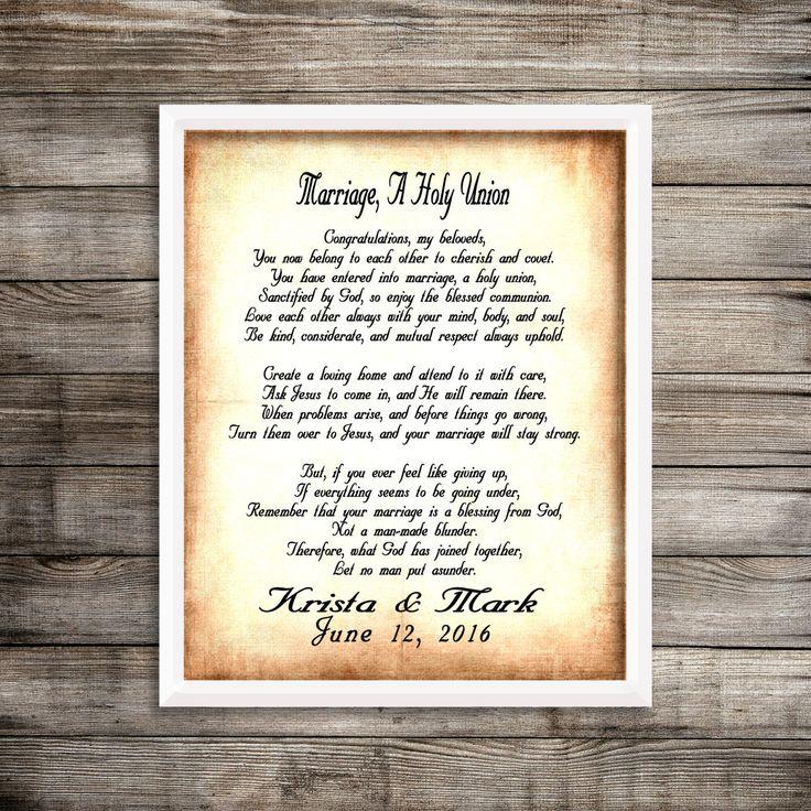 Marriage Poem Shower Gift, Wedding Poem Gift, Personalized Marriage Poem, Wedding Poem Shower Gift, Christian Wedding Gift, Anniversary Gift by NimbleMuse on Etsy
