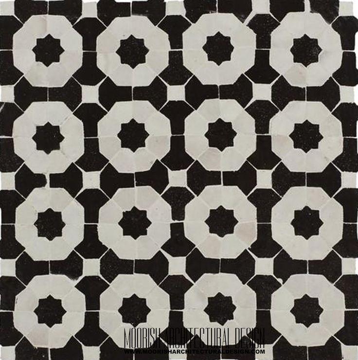 Mejores 9 imágenes de Black and White Moroccan Bathroom Tile en ...