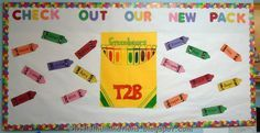 Preschool Back To School Ideas | Our New Pack Crayon Bulletin Board Theme - MyClassroomIdeas.com