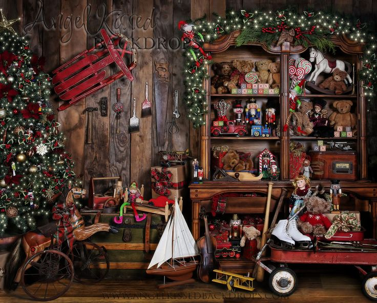 Santa's Workshop 8×10 | Angel Kissed Designs and Backdrops