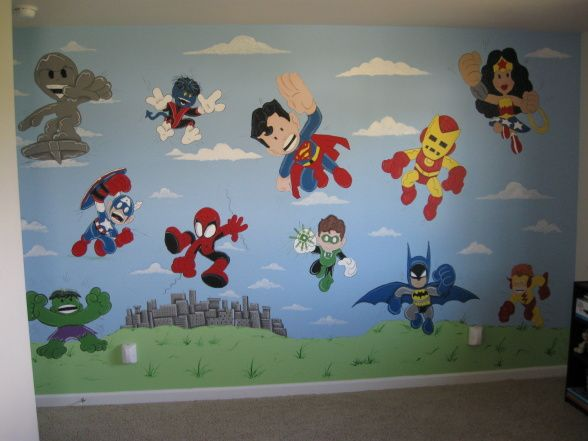 Best Superhero Room Images On Pinterest Superhero Room - Superhero wall decals for kids rooms