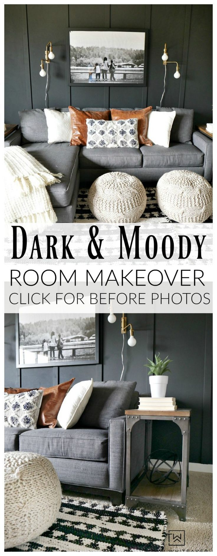 Check Out This Dark Moody Room Makeover With Rustic Modern