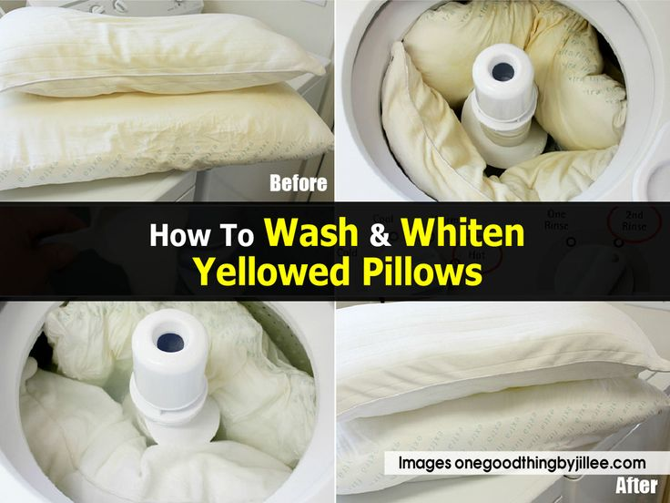 Wash yellowed pillow onegoodthingbyjillee com clean it pinterest wash yellow pillows - Whiten yellowed pillows ...