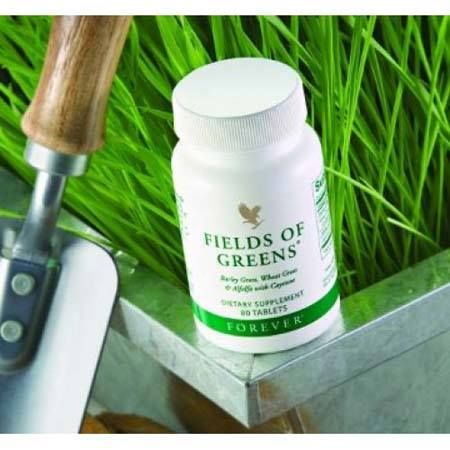 Contains many valuable ingredients, including barley grass (powdered leaves), wheat grass (powdered leaves), alfalfa (powdered leaves), cayenne (powdered fruit) and honey.  https://www.foreverliving.com/retail/shop/shopping.do?itemCode=068&task=viewProductDetail