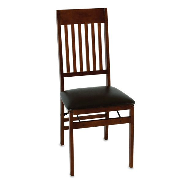 Cosco Wood Folding Chair With Walnut Finish