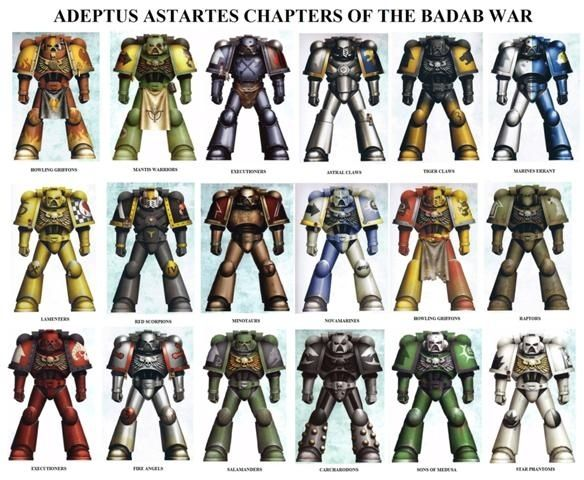 40k - Space Marine Chapters of the Badab War