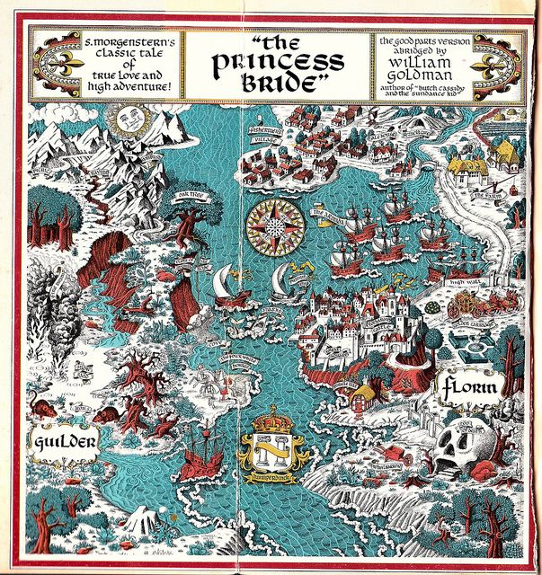 Map of The Princess Bride by William Goldman by BuildingaLibrary, via Flickr