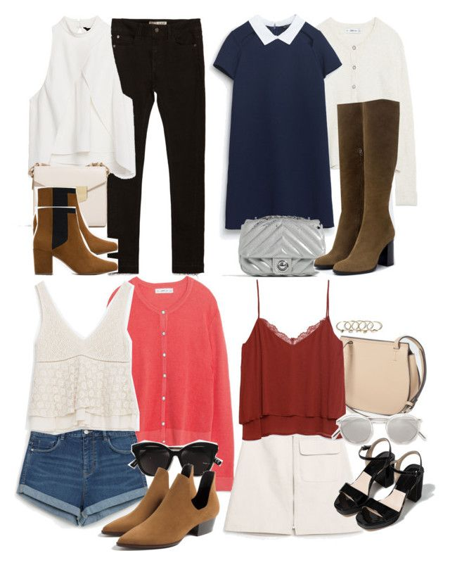 """Lydia Inspired Affordable Zara Outfits"" by veterization ❤ liked on Polyvore featuring Zara and Transparente"