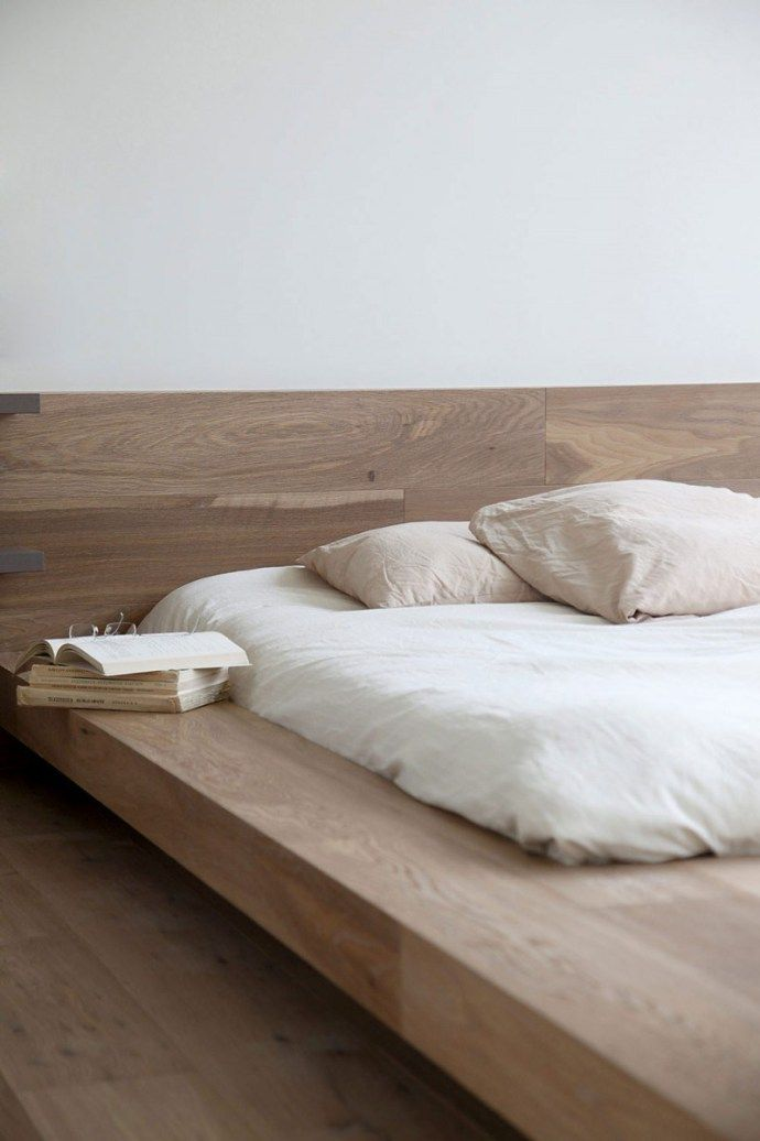 Interior Design Trends 2016 minimal low japanese wooden bed with linen. 17 Best ideas about Wooden Beds on Pinterest   Bedrooms  Simple