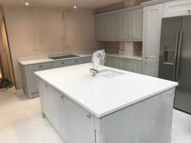 This is the Bianco De Lusso. It is a very popular white quartz with sparkles running throughout. Add glitz and glam with this choice of colour.