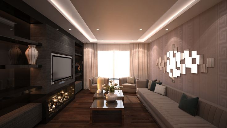Cozy Living Room 2 By Fadi Wardeh. 3D Max.