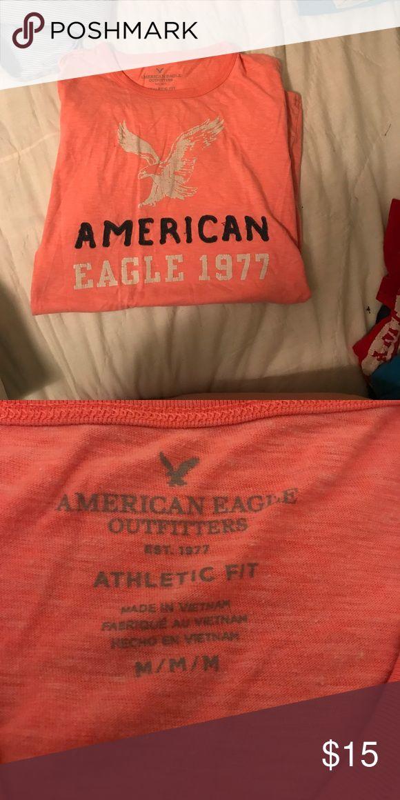 Men's American Eagle Shirt Men's American Eagle Shirt, nice shade of peach. American Eagle Outfitters Shirts Tees - Short Sleeve