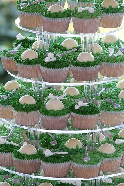 Golf Theme Wedding Cupcakes, via Flickr.