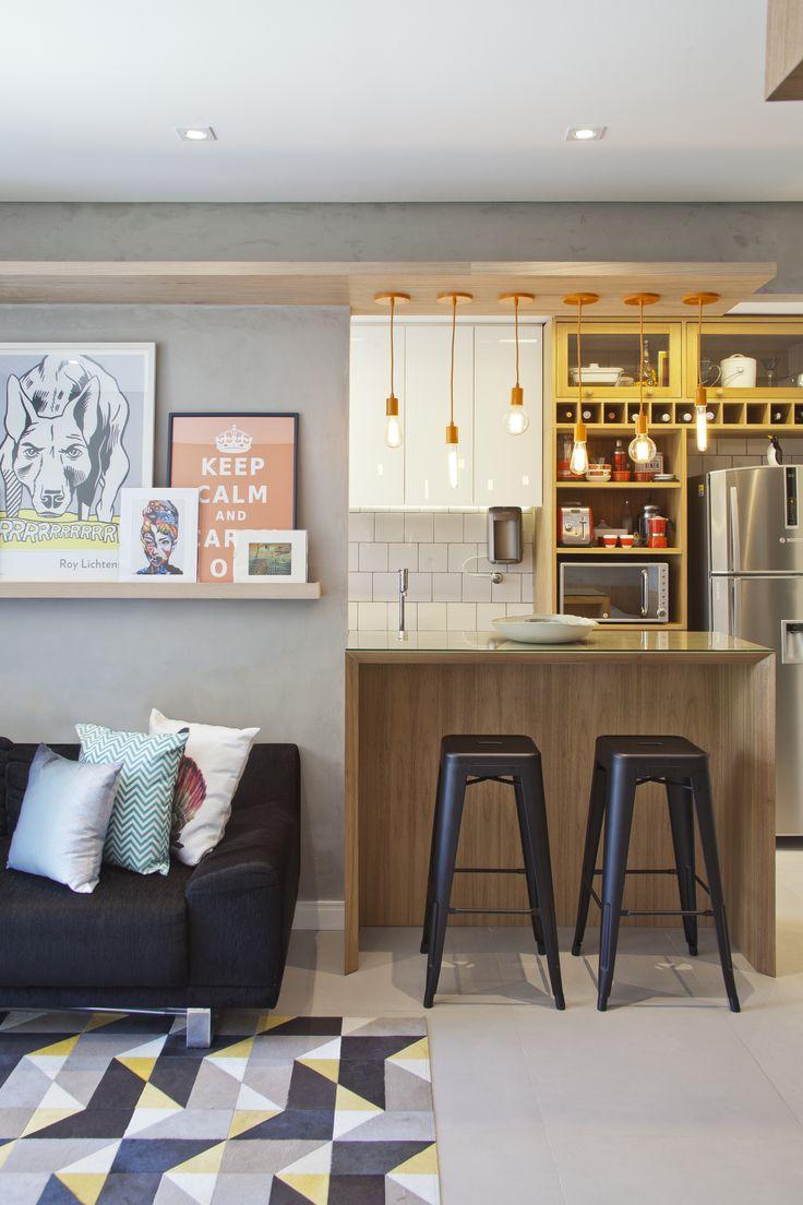 Apartamento pequeno com decoração criativa e charmosa