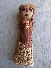 """PERUVIAN Chancay Mummy Burial DOLL Peru 11"""" Tall - Folk Art Textiles"""