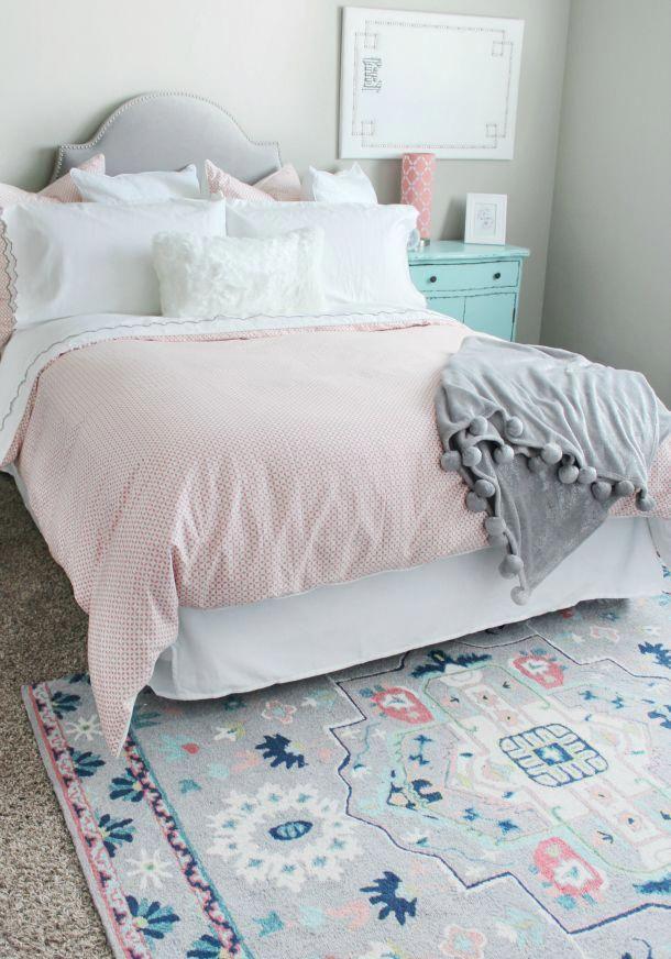 Girl Bedroom Update With Rugs Usa S Fergana Uzb72 Hand Hooked