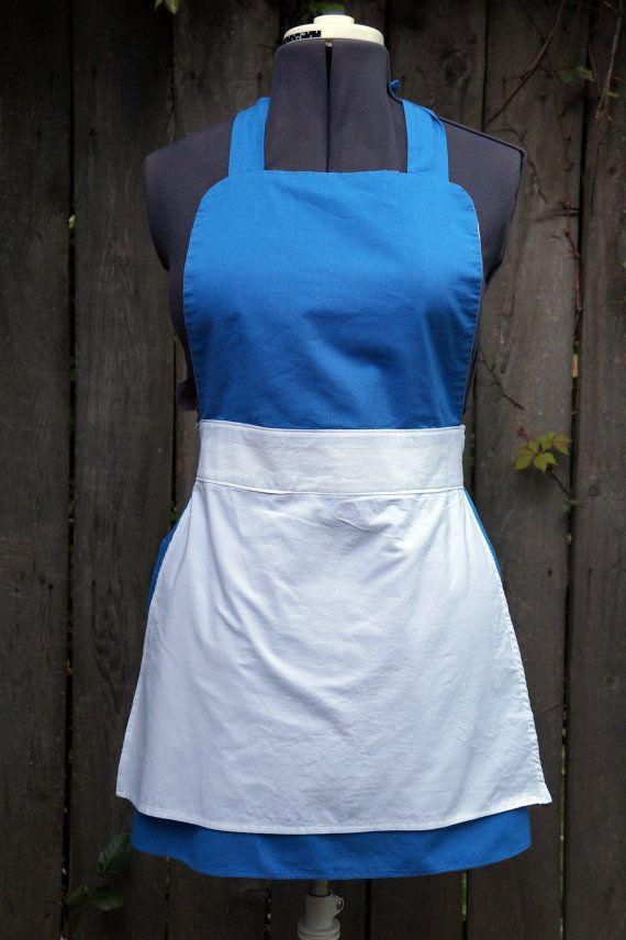 Belle Blue Dress Up Apron for Ladies by CraftingEnvy on Etsy