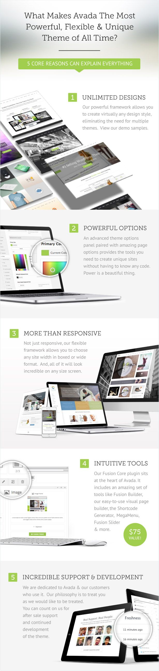 Avada Theme (cool blog grid layout; clean and simple design)